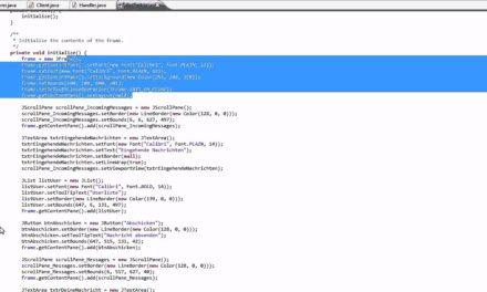 Java Chat – GUI Überblick #10